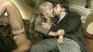 Insatiable and hot long legged blondie blows dick and tries anal sex