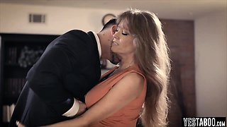 MILF proves company loyalty by fucking with her boss