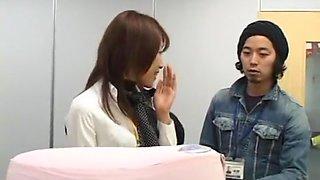 Crazy Japanese chick Mika Nakajou, Misaki Asoh, Aya Sakuraba in Fabulous Secretary JAV scene