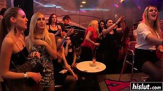 Sexy sluts at a party get fucked