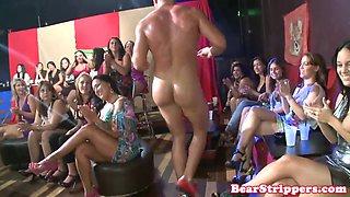 Wild sluts cock suck stripper at strip club