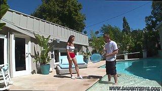 Dad fucks both allys daughters Nina North Fucks The Pool Man
