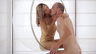 Czech stunner Tracy gets fucked in a bubble