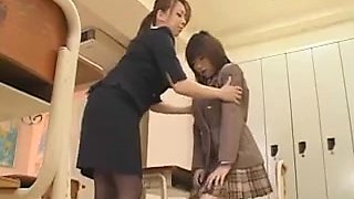 Japanese Teacher And Her Busty Student