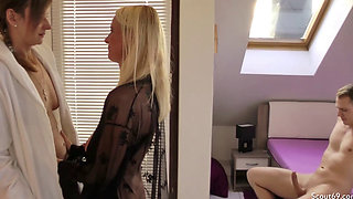GERMAN MOM DIRTY TINA AND STEP DAUGHTER FUCK IN THREESOME