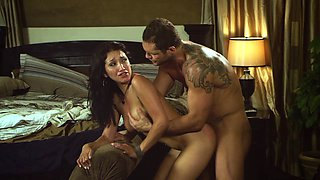 Sizzling Latina with an awesome body enjoying a hardcore fuck in her bedroom