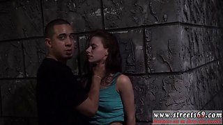 Pervert man Rough outdoor public bangout is Anya Olsens only option as she finds