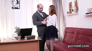 Erotic schoolgirl is seduced and nailed by her older schoolt