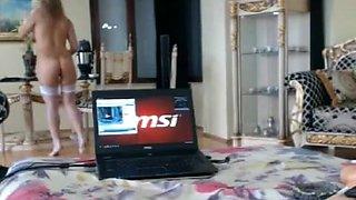 free porn video with blonde girl enjoying fucking machine