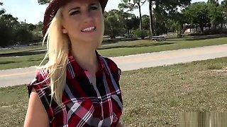 Jade Amber seducing stranger for a ride