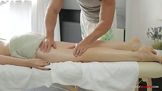 Brother takes care of stepsister&#39s sexy body!