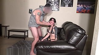 Throat Fuck Slave Lua ROUGHLY Face Fucked & Abused by Daddy