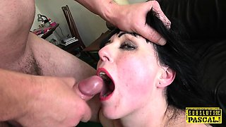 Assfucked british sub swallows maledom cum