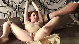 Kidnapped Redhead Tied Up and Fucked in back of a Truck