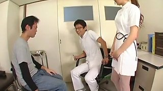 Hottest Japanese girl Rina Fukada in Incredible Threesome, Nurse JAV movie
