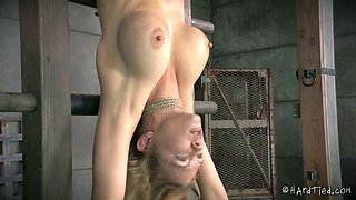 Hanging down blond chick Rain DeGrey had hard sex with her black BF