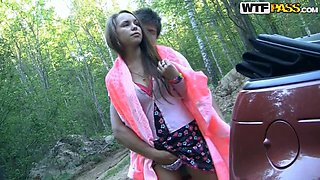 Off Road Fucking With A Sexy Girl And Her Tight Pussy