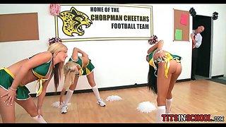 Cheerleaders in the locker room