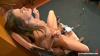 Beautiful Tori Black gets her hairy pussy toyed
