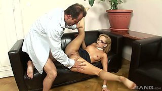 Hungarian busty office assistant Aleska Diamond gets fucked by boss hard
