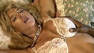 Caucasian blonde hottie with big boobs is fucked hard in interracial fuck video