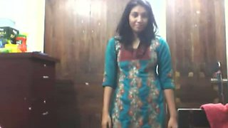 Amateur Indian girl is stripping in front of the camera