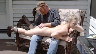 Raunchy blonde MILF gets spanked and fucked really hard by a redneck
