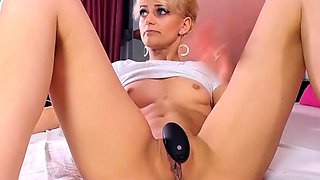 Blonde MILF Glass in Ass HD She Loves It