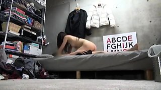 Asian cutie with a sweet ass expresses her passion for cock