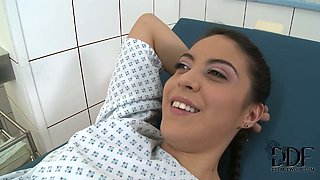 Frisky teen chick has a special treatment at the doctor's appointment