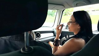 Lara tinelli squirts in the passenger car