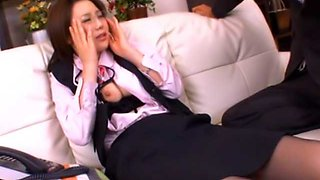 busty office slut Nanako Mori