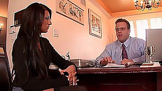 Sexy secretary banged by the boss
