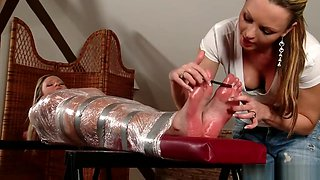 Tickled and Oiled Feet - Samantha