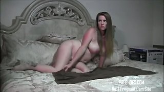 pregnant amateur couple in bedroom - more at preghoes.com