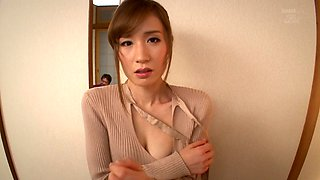 Yuna Hayashi is a babe covered in oil enjoying a man's touch