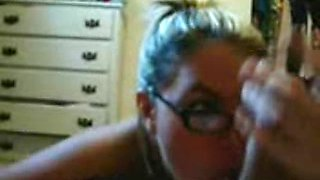 CuteBlond Girl with Glasses Gives Great Head