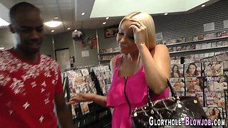 Blondie gloryhole cummed