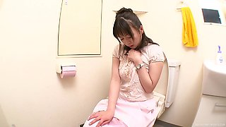 Cute and busty Japanese girls masturbate to cum hard