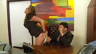 Sexy secretary knows how to work it