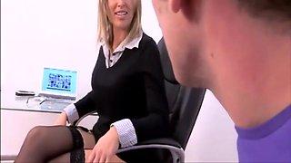 Hot milf chav office worker