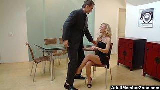 Blonde Sluts Orders A Manwhore To Satisfy Her