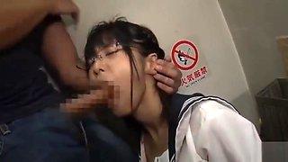Glasses Daughter Girls Large Black Tights Mass Ejaculation Molester