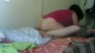 Hidden cam video of my Turkish wife sucking my prick
