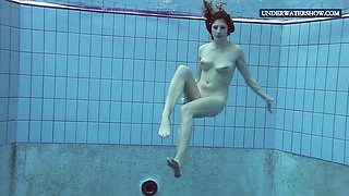 Wet teen Lera in the pool