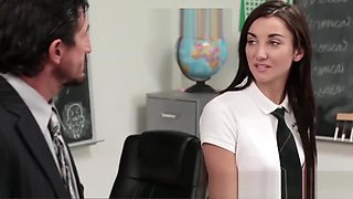 High School Principal Fucks Slutty Student Jade Ambers