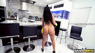 i will eagerly fuck my maid while doing her dirty work!