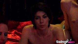 Horny swingers banging each other