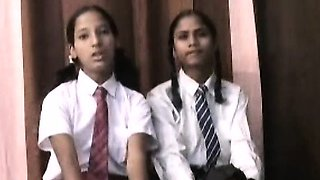 Indian School Girls Filmed By Teacher In Lesbian Sex