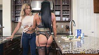 Romi Rain and Aubrey Black are horny MILFs ready for a lesbian game